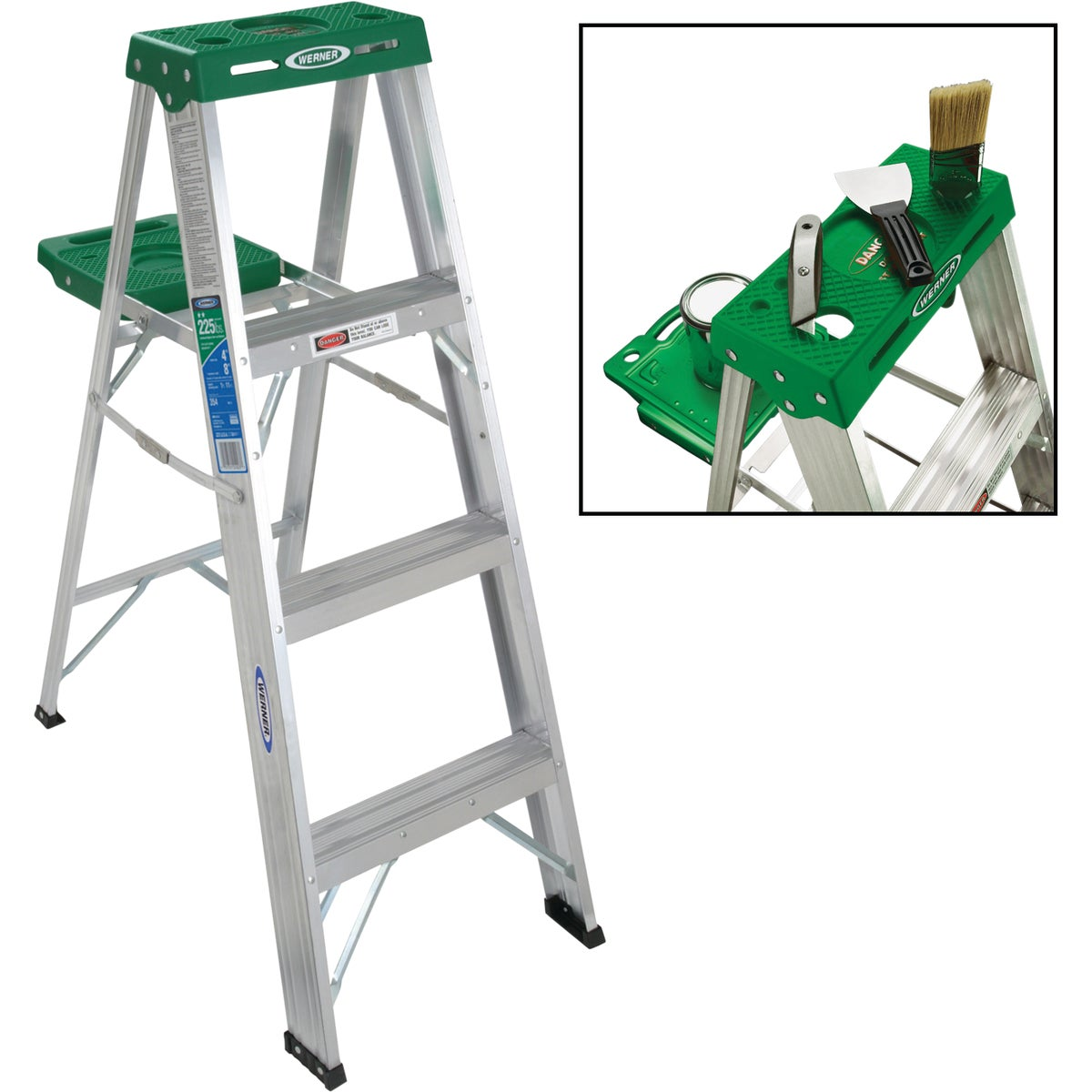 T-2 4' ALUM STEPLADDER - 354 by Werner Co