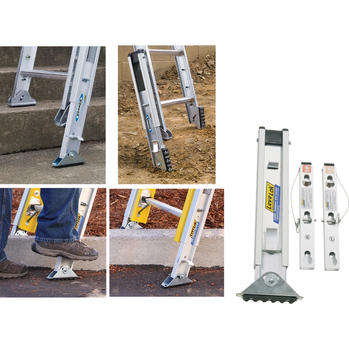 3PC LADDER LEVELER KIT - PK70-1 by Werner Ladder
