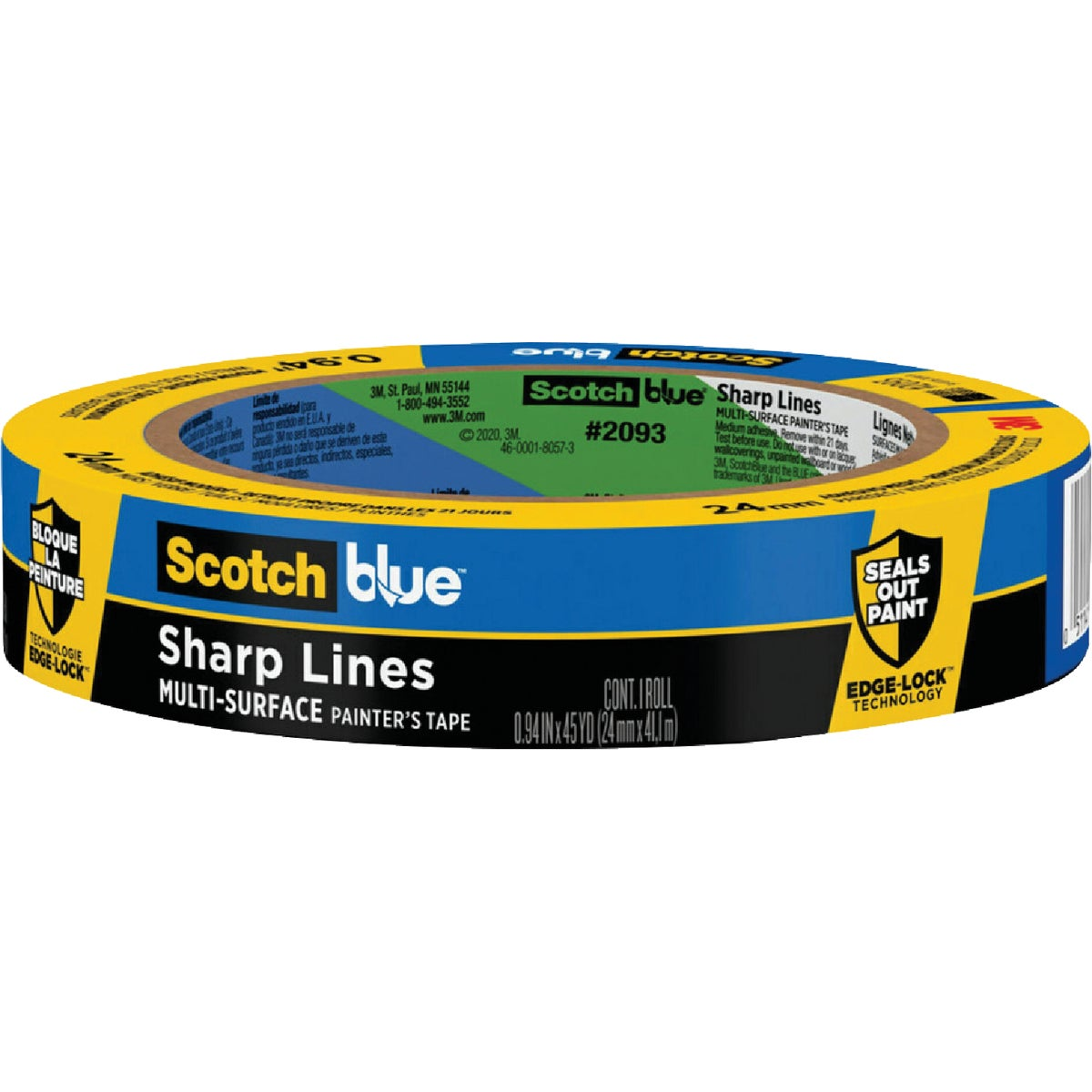 "1"" BLUE EDGELOCK TAPE - 2093EL-1N by 3m Co"