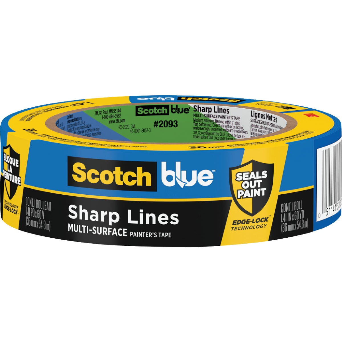 "1.5"" BLUE EDGELOCK TAPE - 2093EL-1.5N by 3m Co"