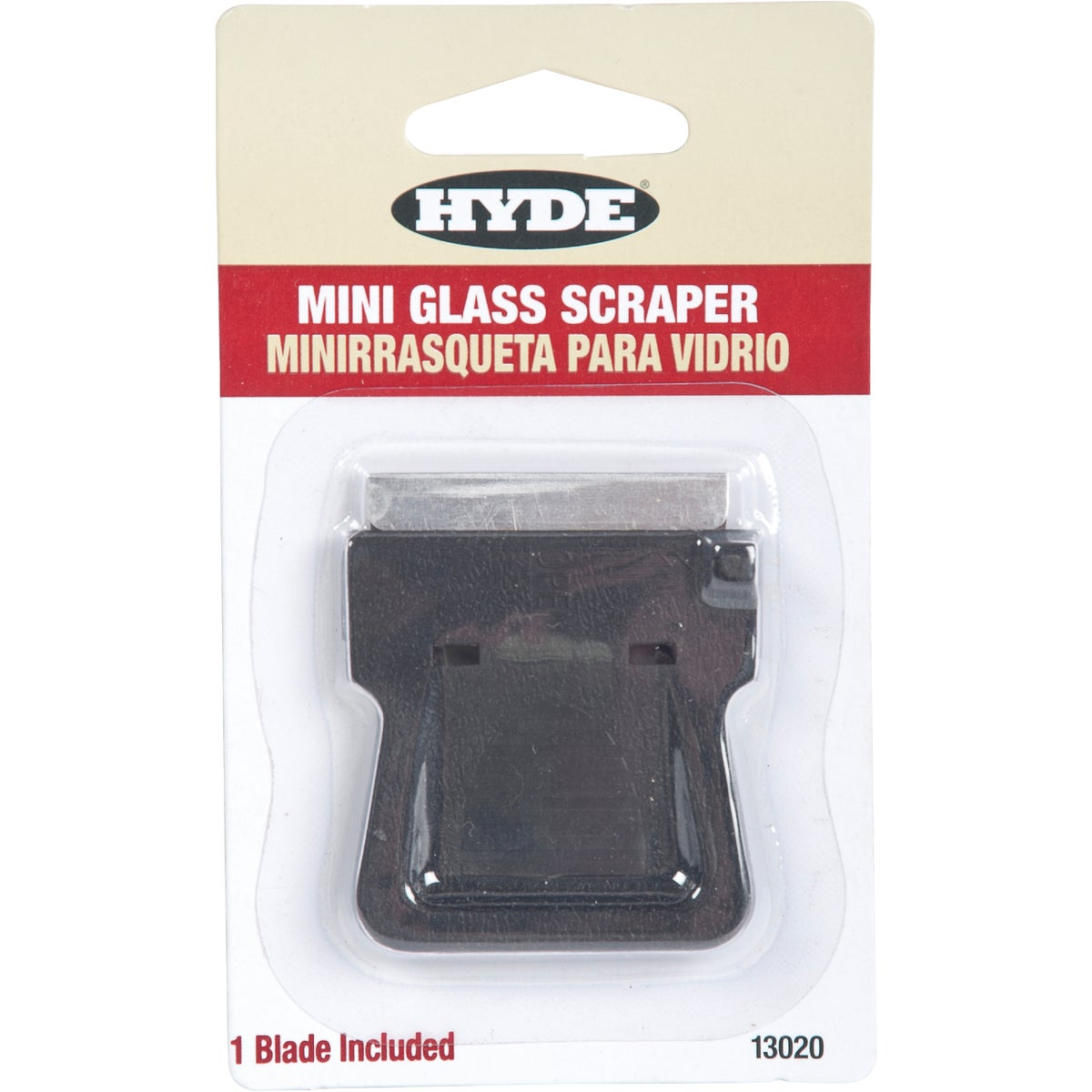 MINI GLASS SCRAPER - 13020 by Hyde Mfg Co
