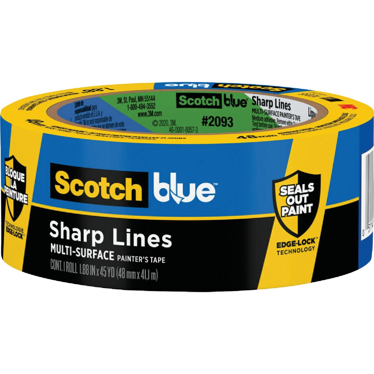 "2"" BLUE EDGELOCK TAPE - 2093EL-2N by 3m Co"