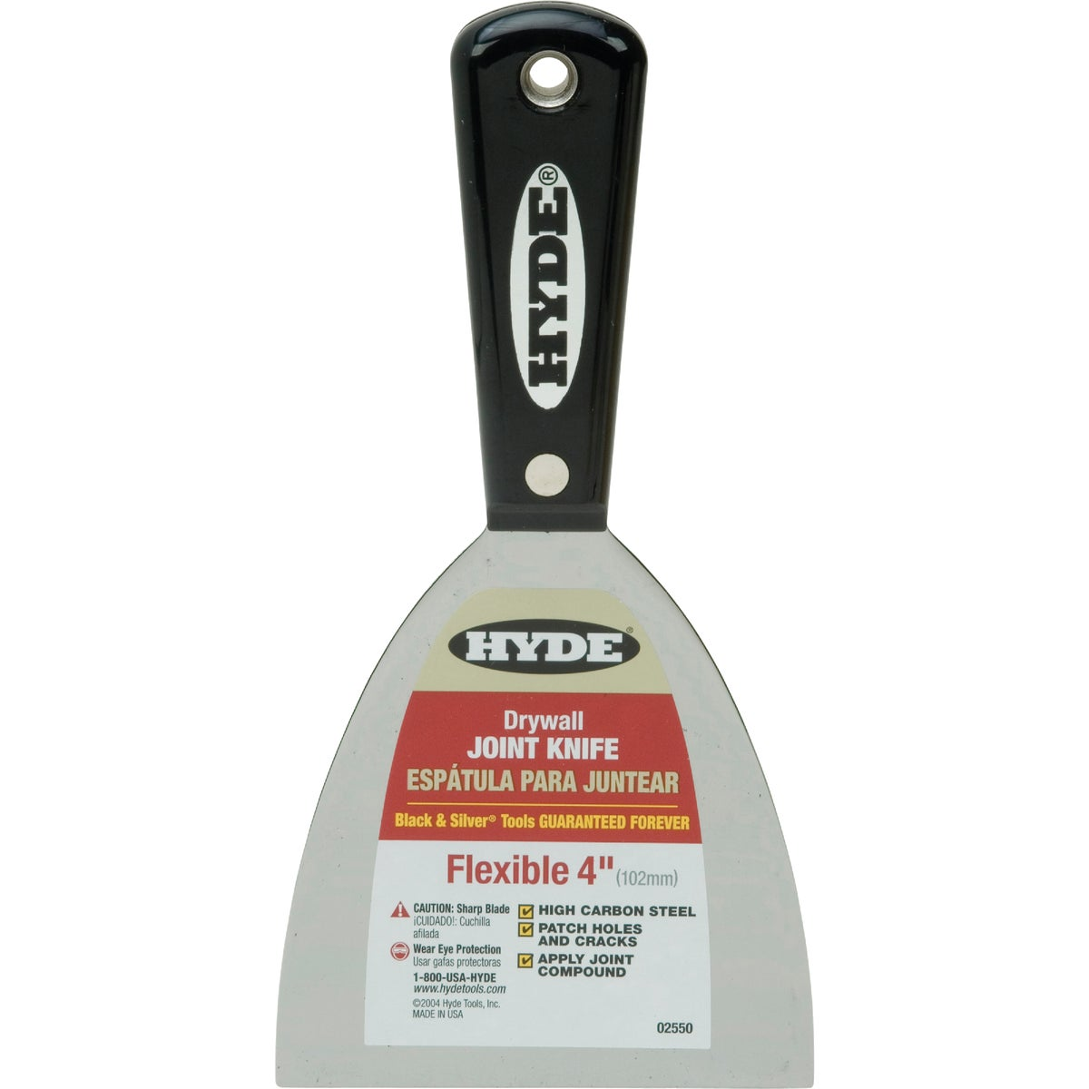 Hyde Tools 02550 4-Inch Flex Joint Knife, Black and Silver