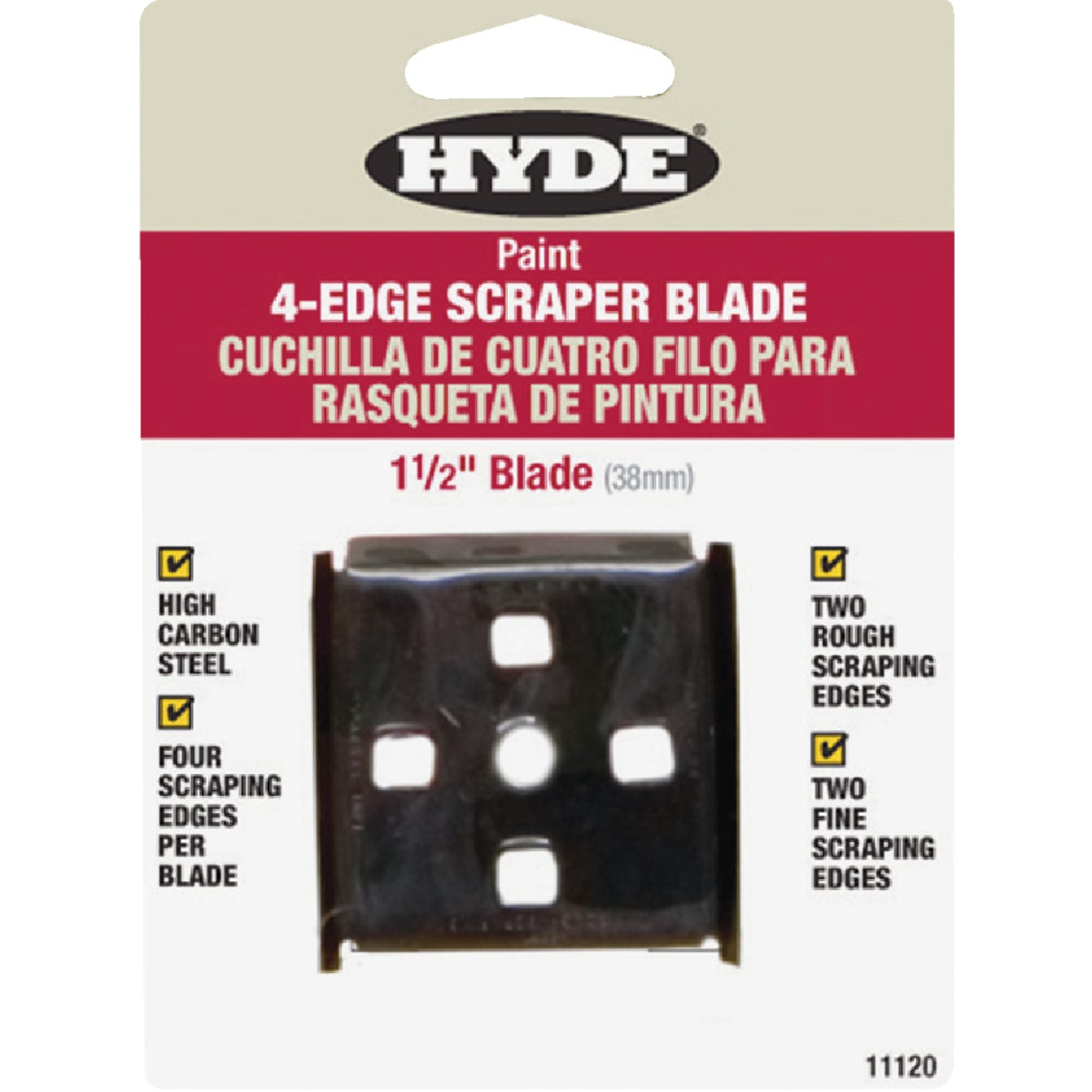 "1-1/2"" SCRAPER BLADE - 11120 by Hyde Mfg Co"