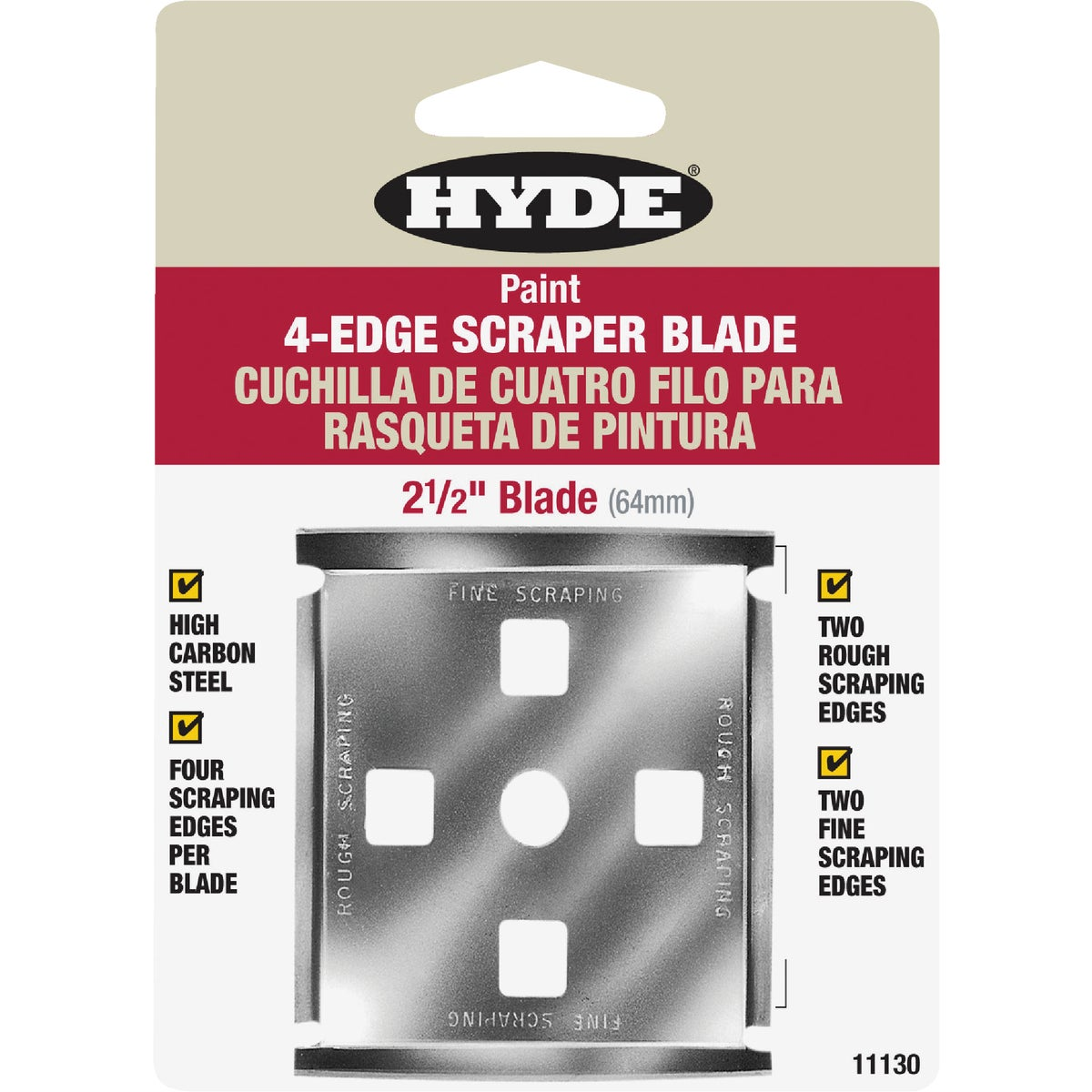 "2-1/2"" SCRAPER BLADE - 11130 by Hyde Mfg Co"