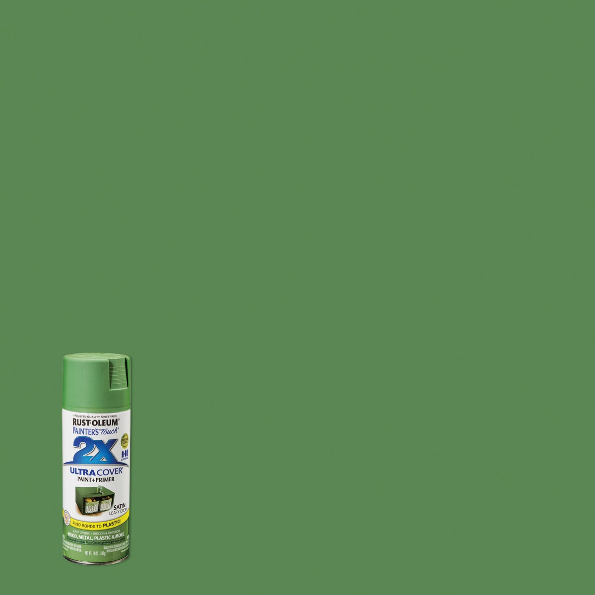 SAT LEAF GRN SPRAY PAINT - 249072 by Rustoleum
