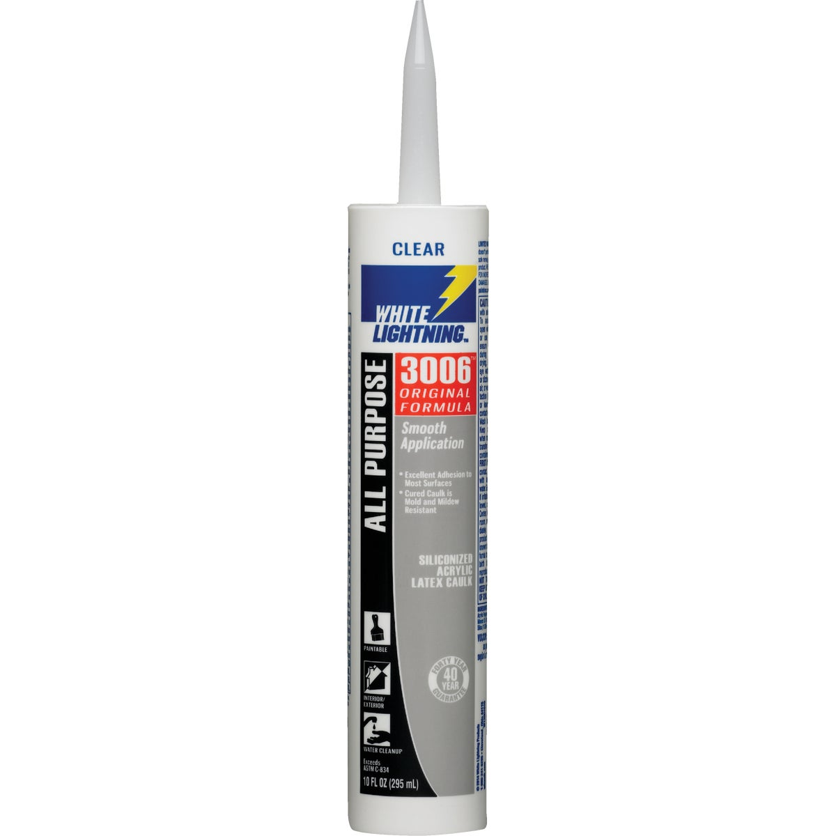 10OZ CLEAR LATEX CAULK - 30067 by White Lightning Prod