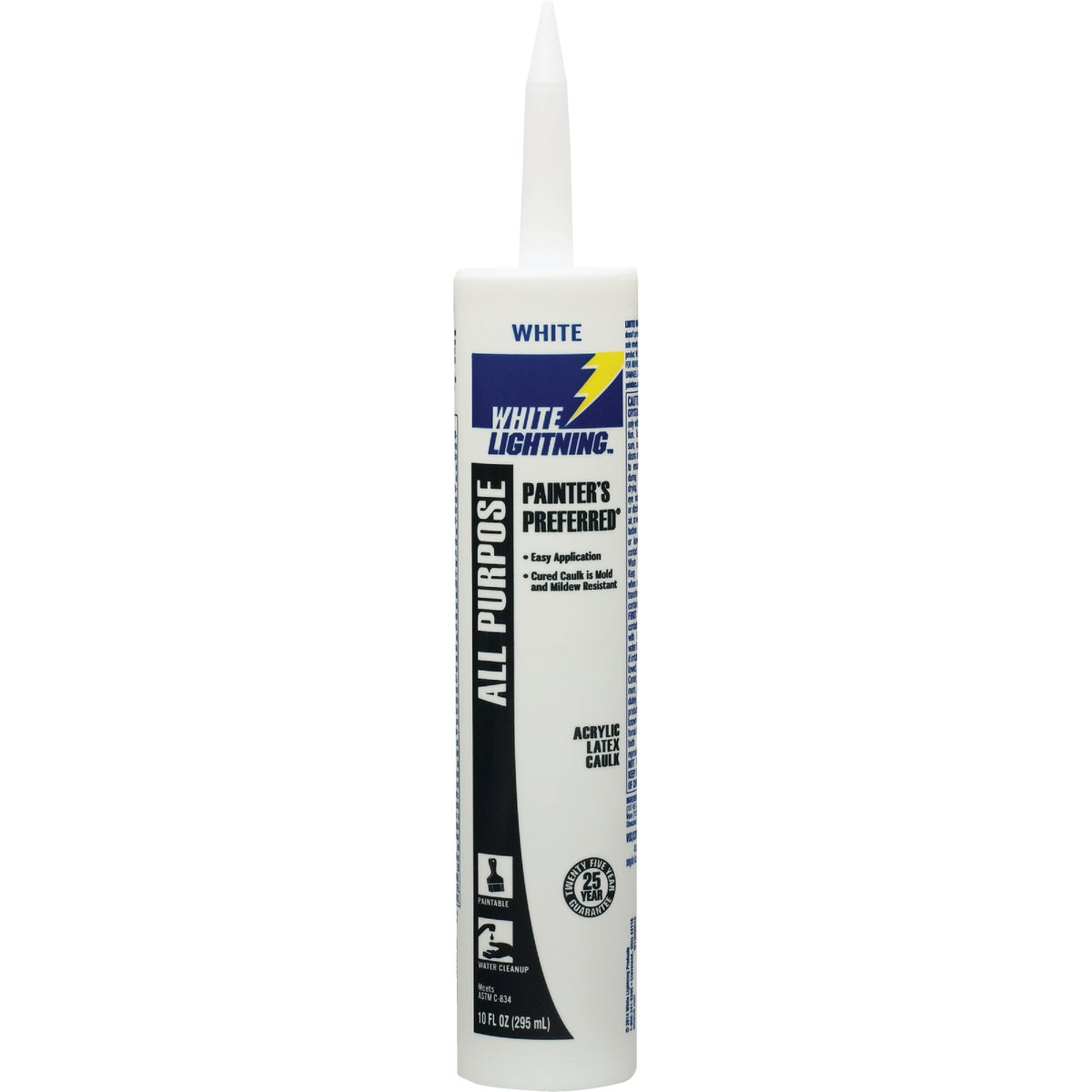 10OZ WHT PAINTERS CAULK - WL30010-0 by White Lightning Prod