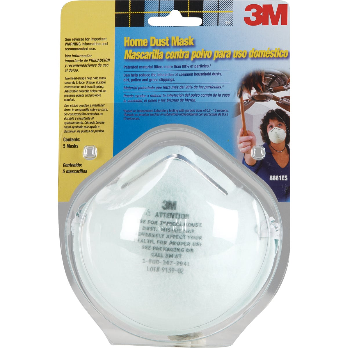 5PK HOME DUST MASK - 8661PC1-A by 3m Co