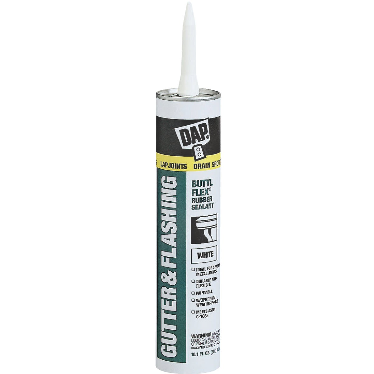 WHT BUTYL GUTTER SEALANT - 18182 by Dap Inc