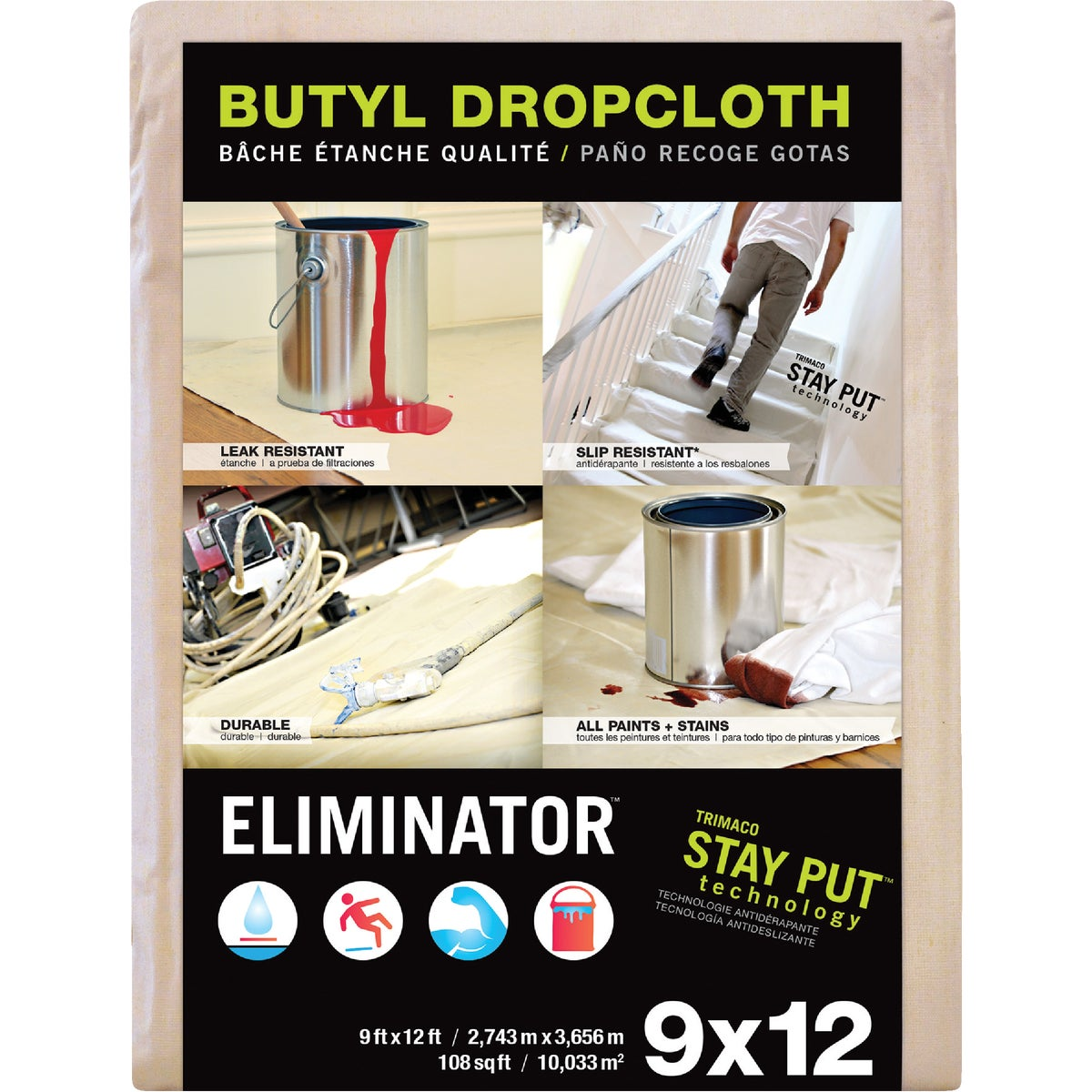 9X12 BUTYL DROP CLOTH - 80321 by Trimaco L L C