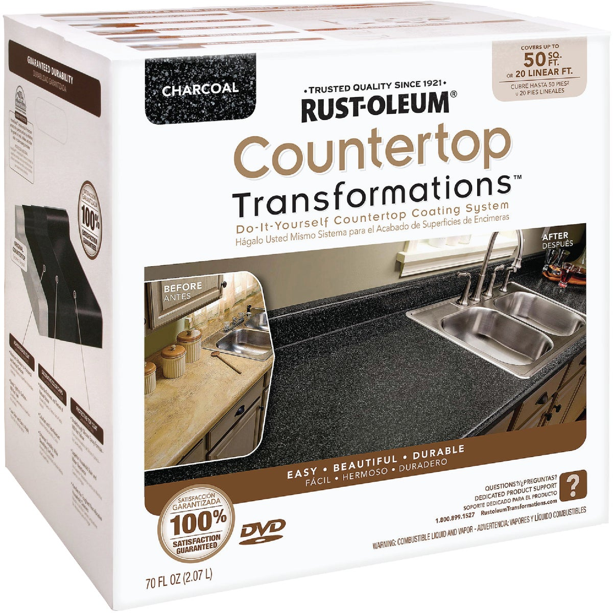 CHARCOAL COUNTERTOP KIT - 258285 by Rustoleum