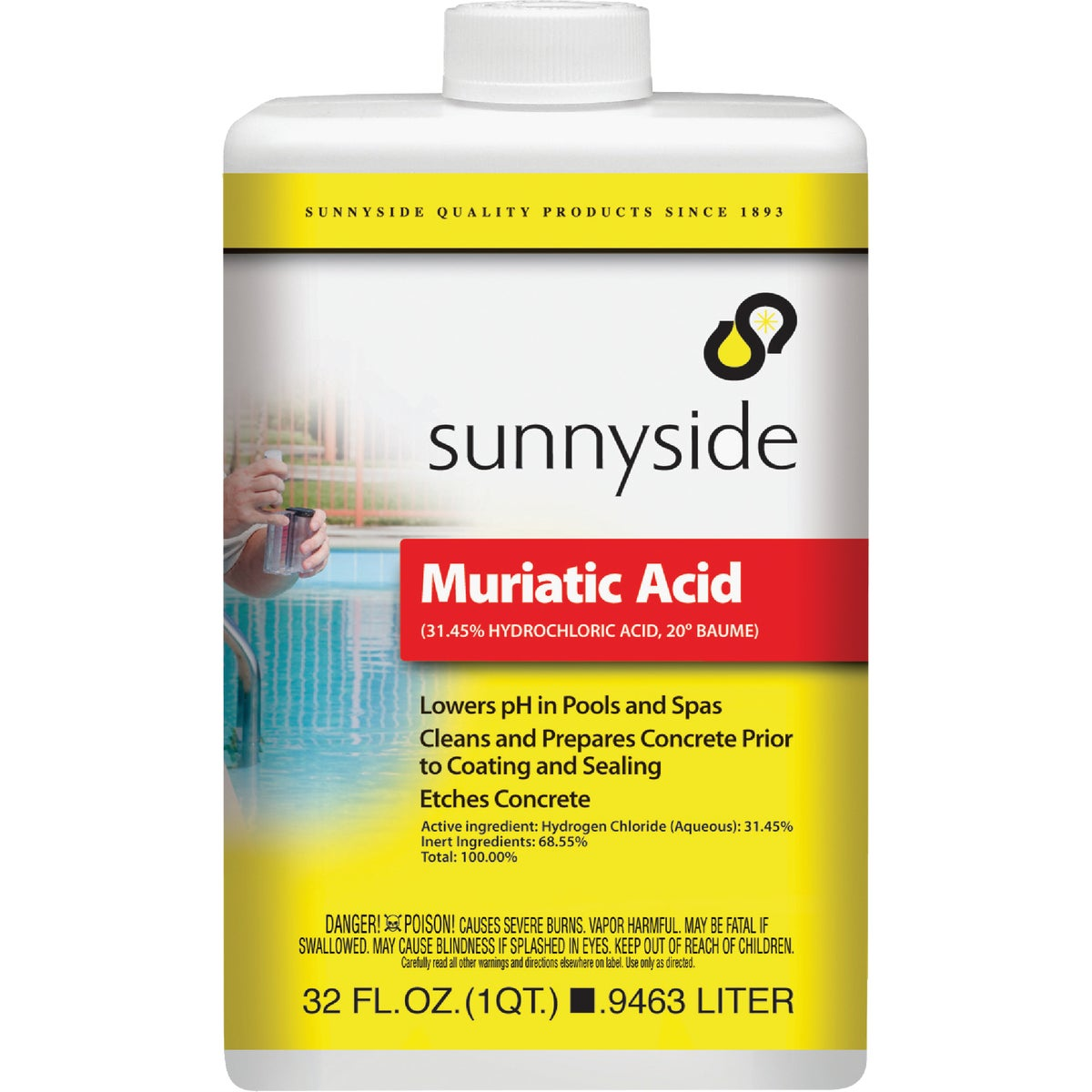 QT MURIATIC ACID - 71032 by Sunnyside Corp