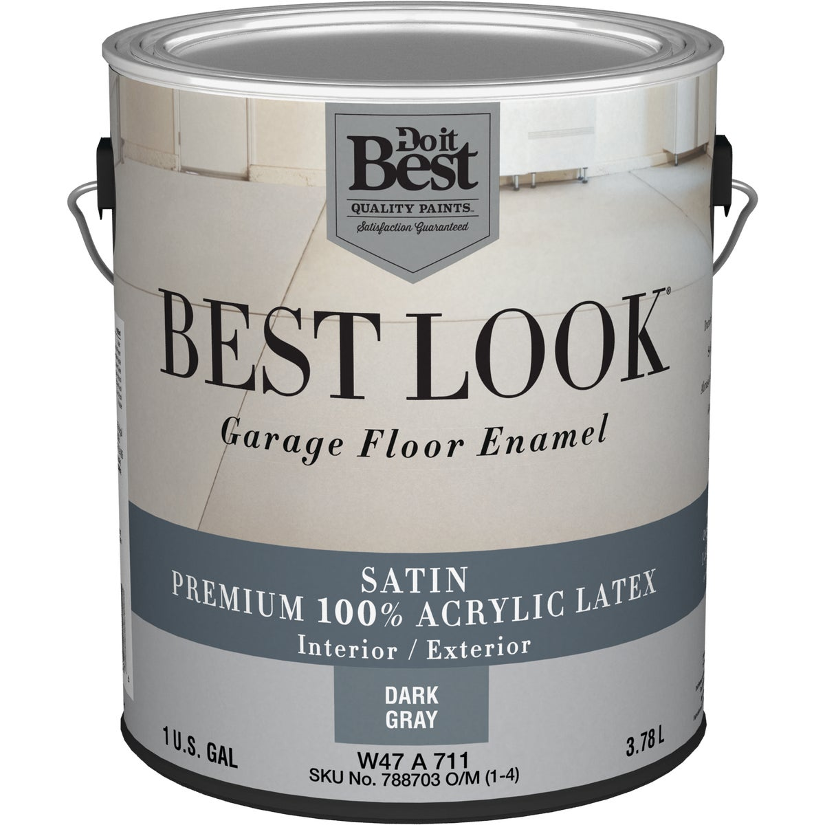 DK GRAY GARAGE FLR PAINT - W47A00711-16 by Do it Best