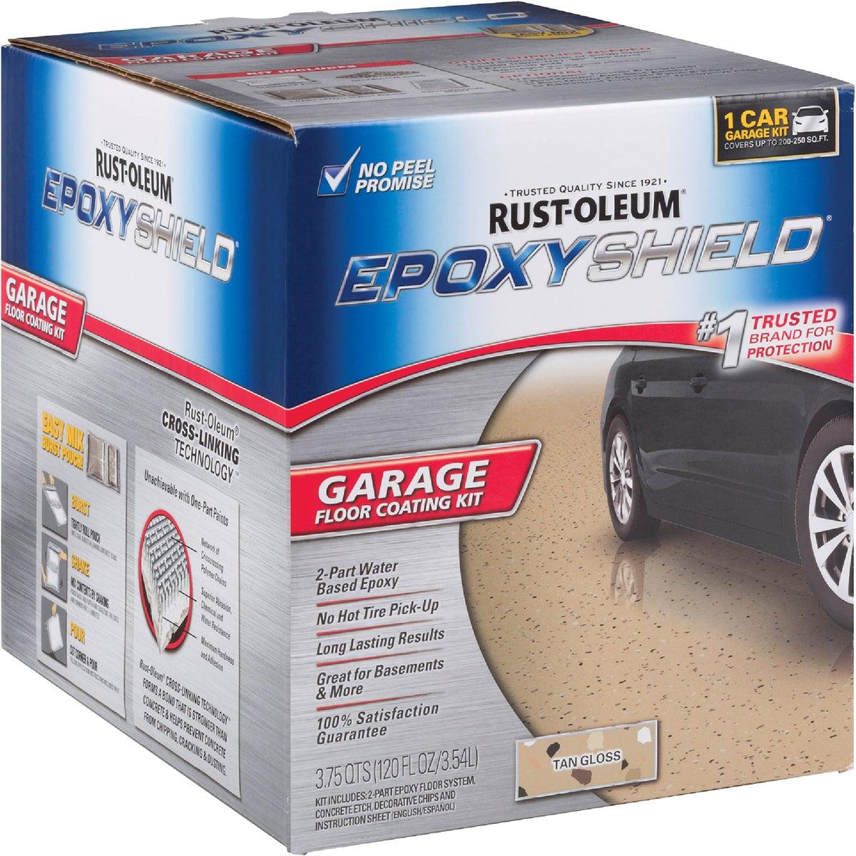 Rust-Oleum 251966 Garage Floor Kit, Tan Gloss
