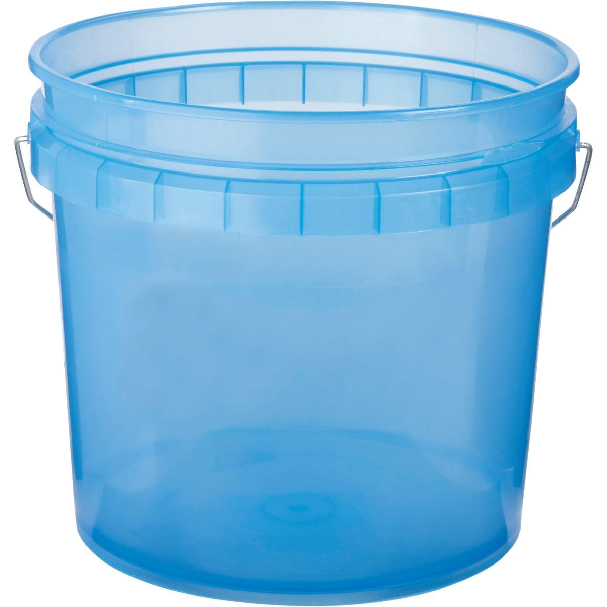 3.5GAL BLUE PLASTIC PAIL
