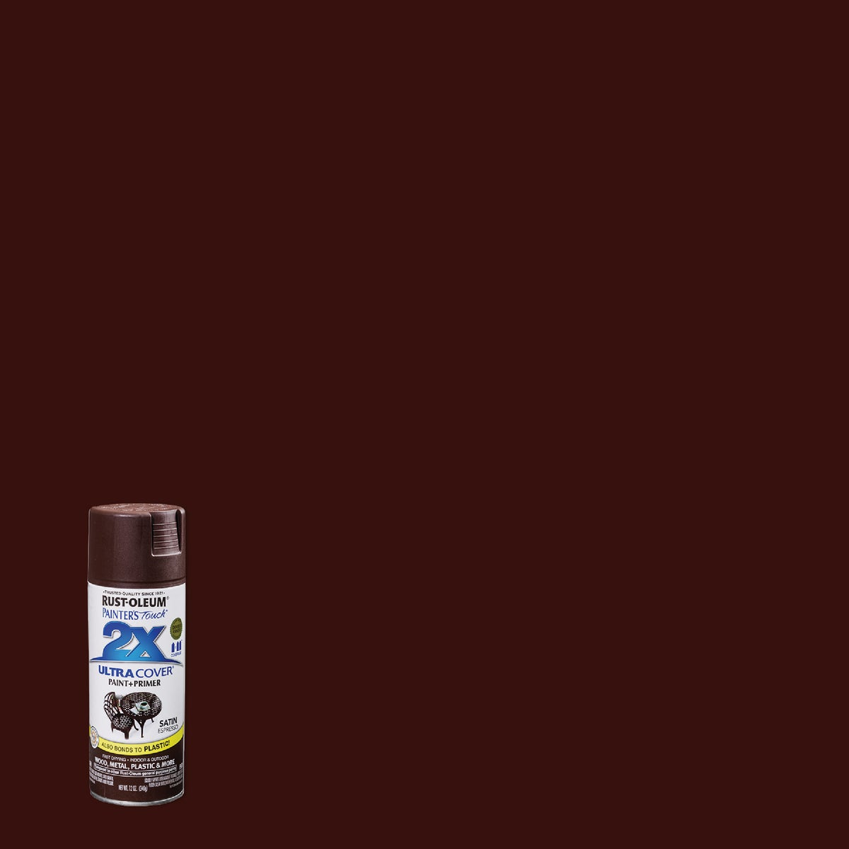 SAT ESPRESSO SPRAY PAINT - 249081 by Rustoleum