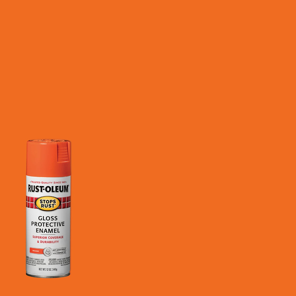 GLS ORANGE SPRAY PAINT - 214084 by Rustoleum