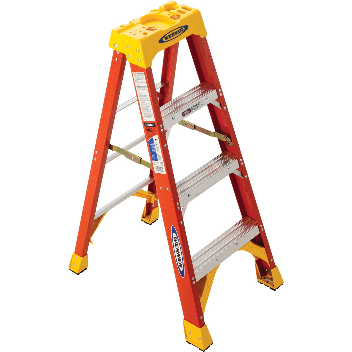 T-1A 4' FBGL STEPLADDER - 6204 by Werner Co