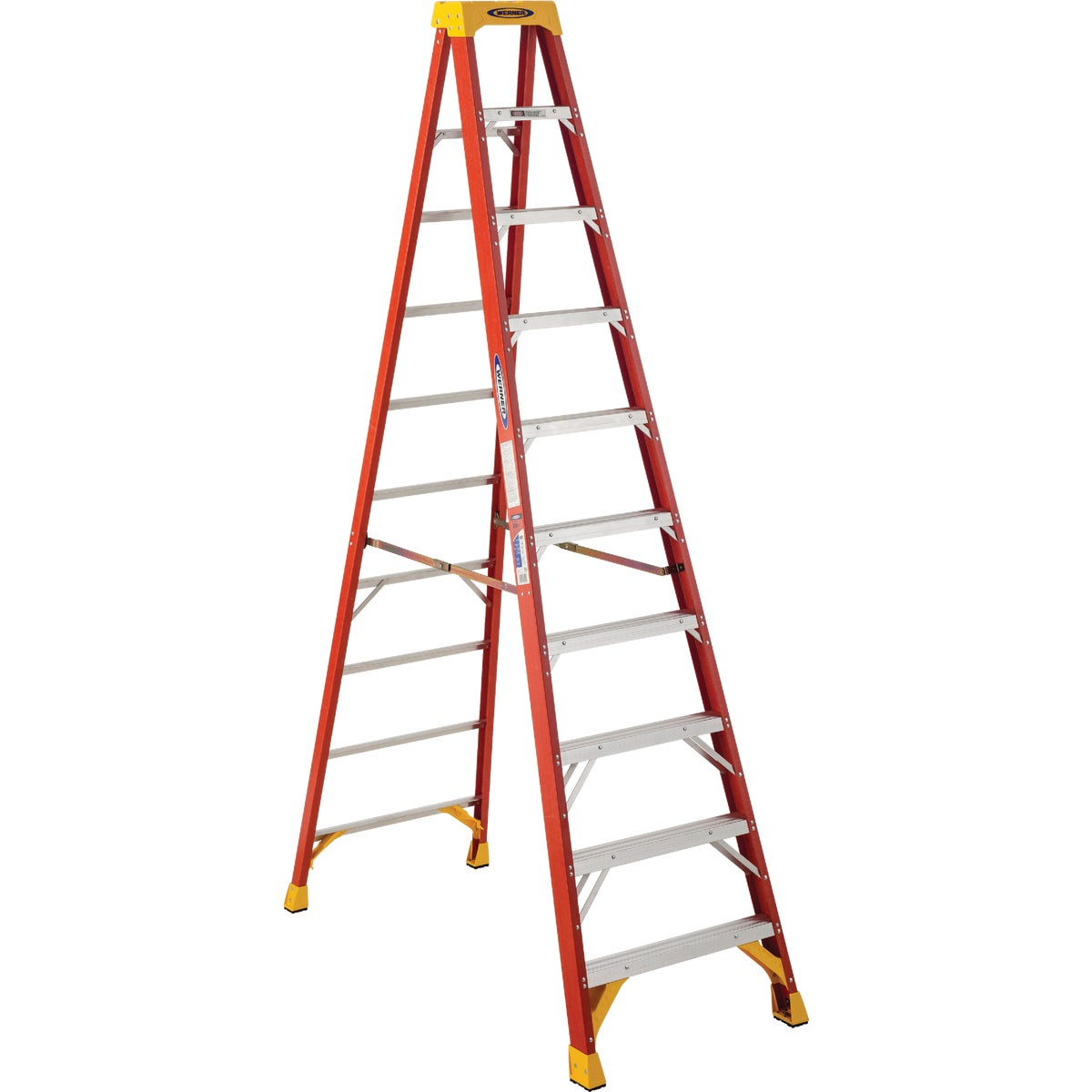 T-1A 10' FBGL STEPLADDER - 6210 by Werner Ladder