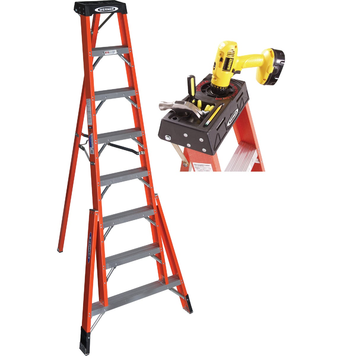 8' FBGL TRIPOD LADDER - FTP6208 by Werner Ladder