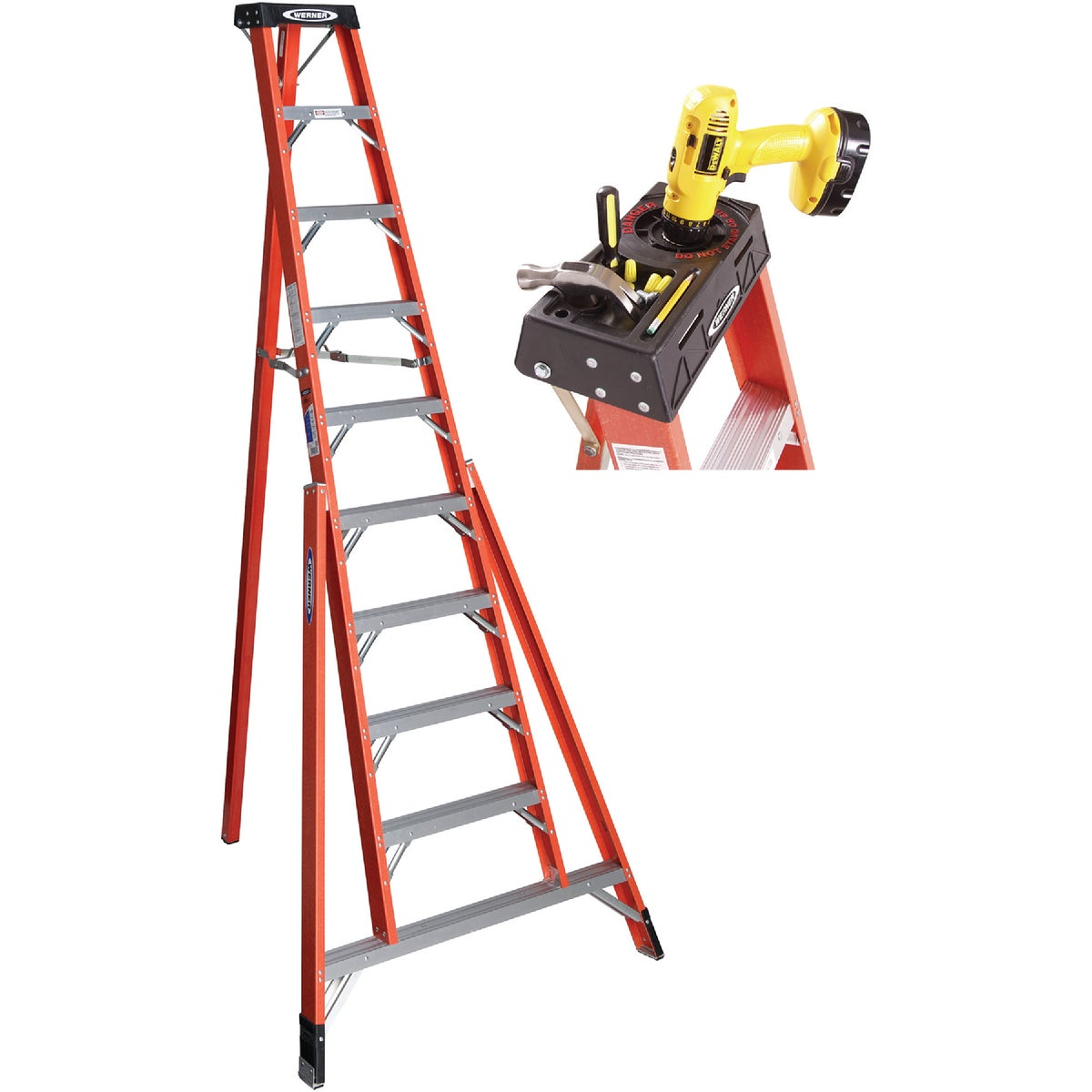 10' FBGL TRIPOD LADDER - FTP6210 by Werner Ladder