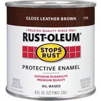 Rust Oleum LEATHER BROWN ENAMEL 7775-730