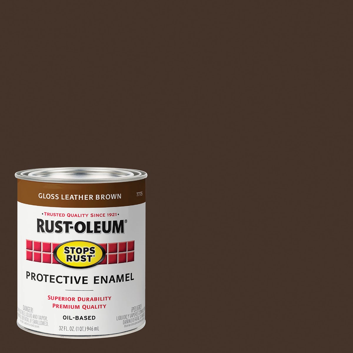 LEATHER BROWN ENAMEL - 7775-502 by Rustoleum