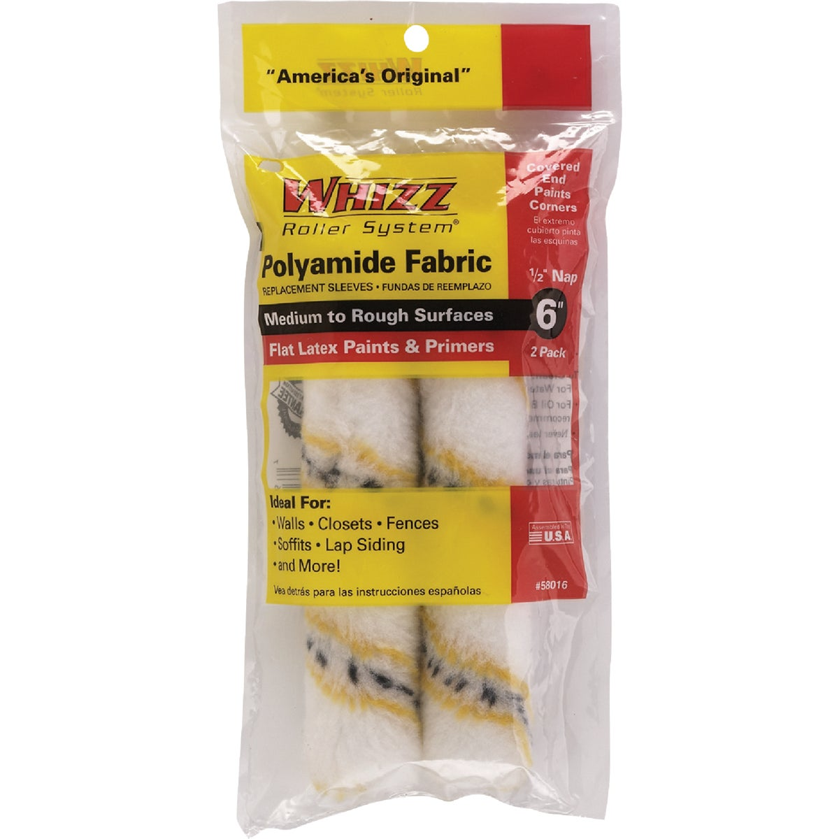 "2PK 6"" REPLCMNT COVERS - 58016 by Whizz Roller System"