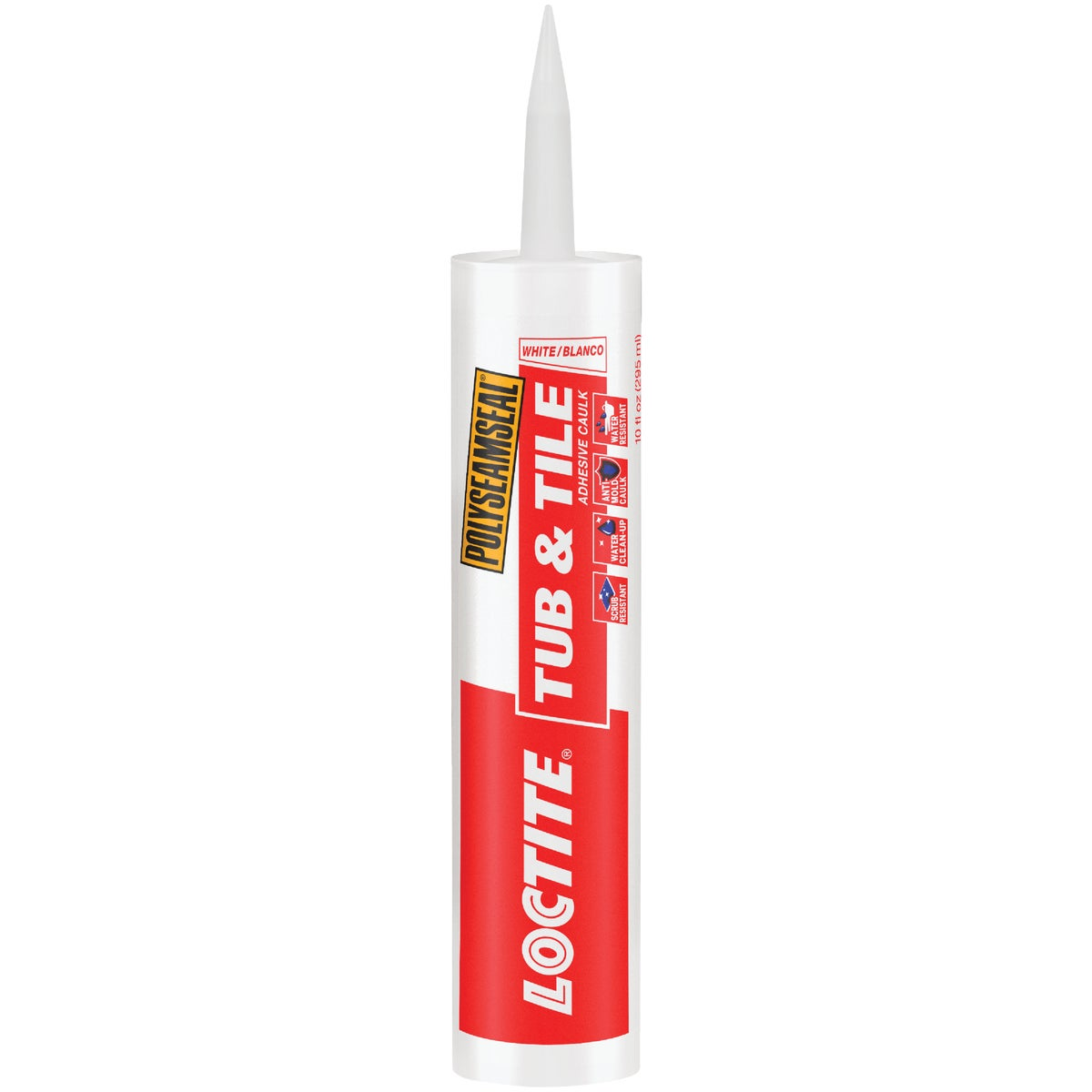 10OZ WHT TUB&TILE CAULK - 1700022 by Henkel Corporation