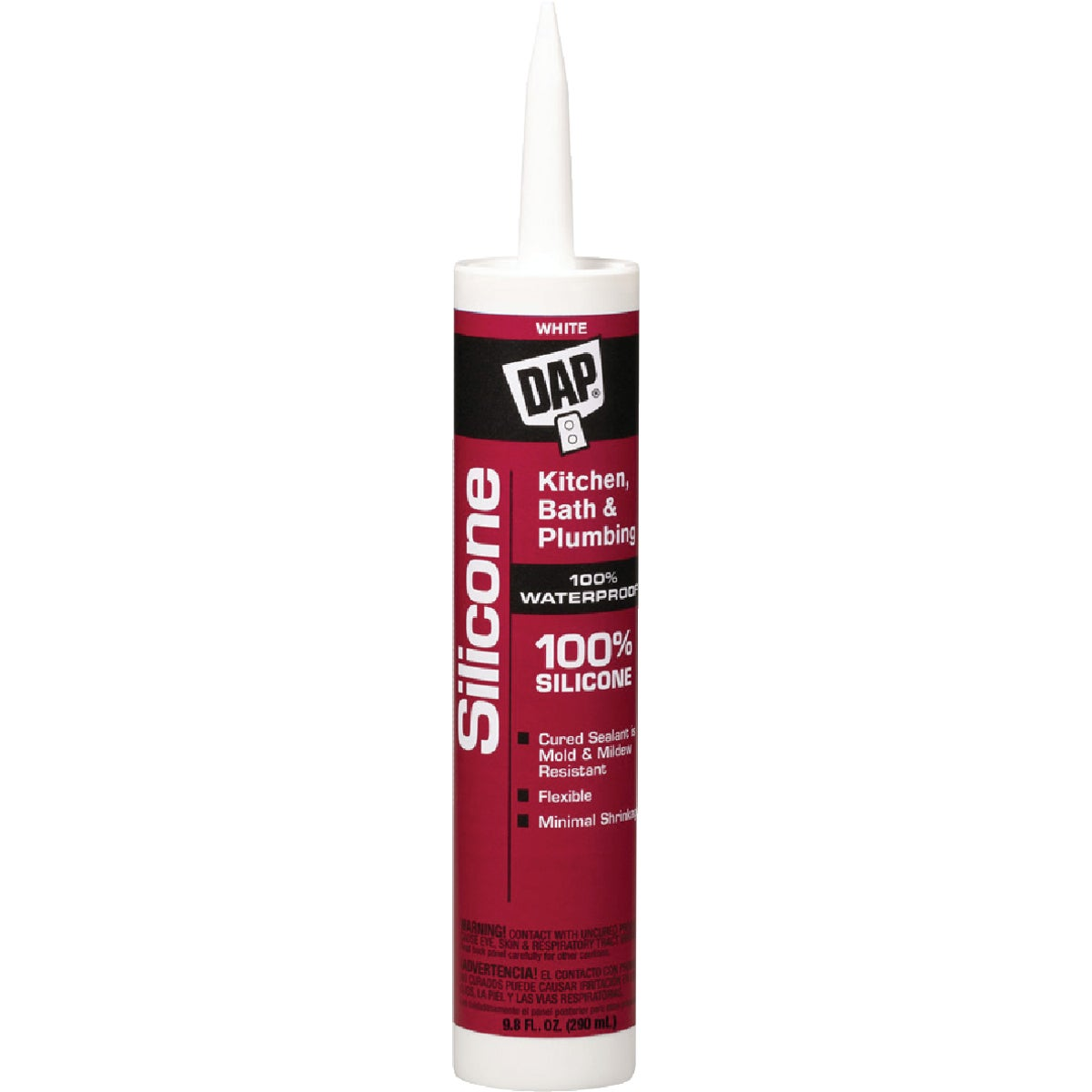 WHITE SILICONE SEALANT - 08640 by Dap Inc
