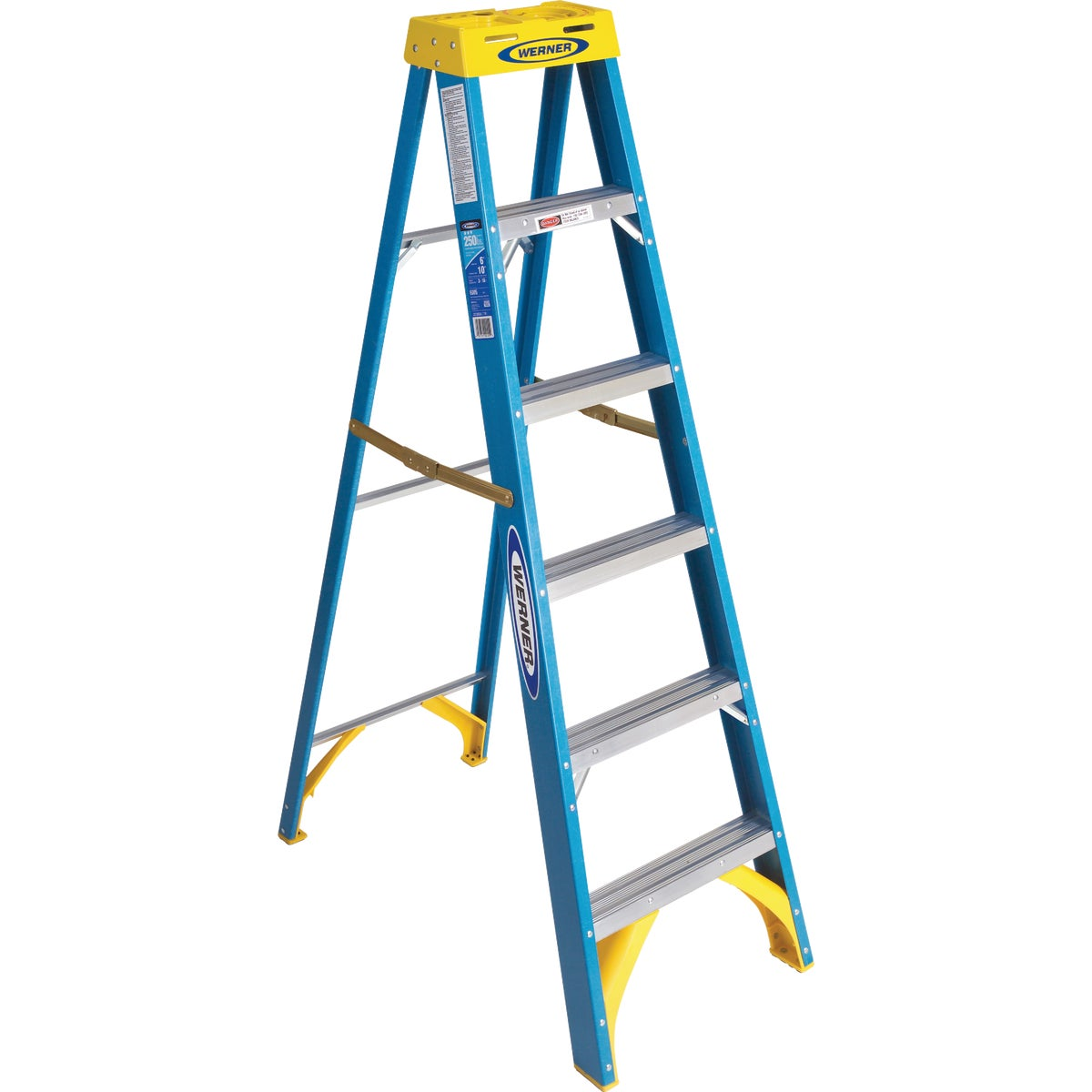 T-1 6' FBGL STEPLADDER - 6006 by Werner Co