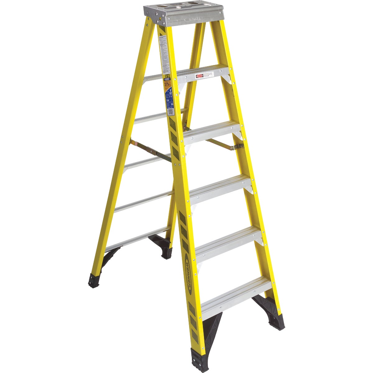 T-1AA 6' FBGL STEPLADDER - 7306 by Werner Ladder