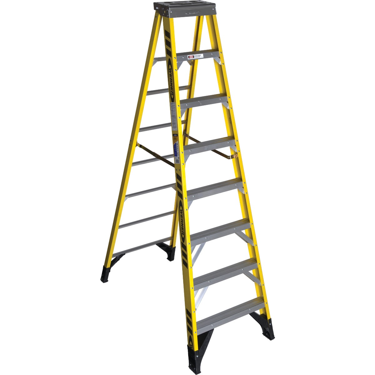 T-1AA 8' FBGL STEPLADDER - 7308 by Werner Ladder