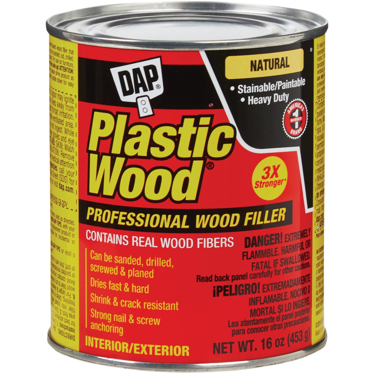 16OZ NATURL PLASTIC WOOD