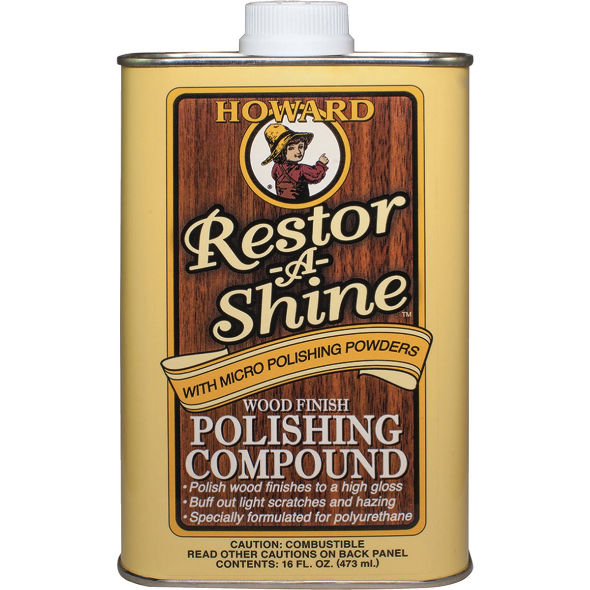 Howard Restor-A-Shine Polishing Cream Wood Polish, RS0016