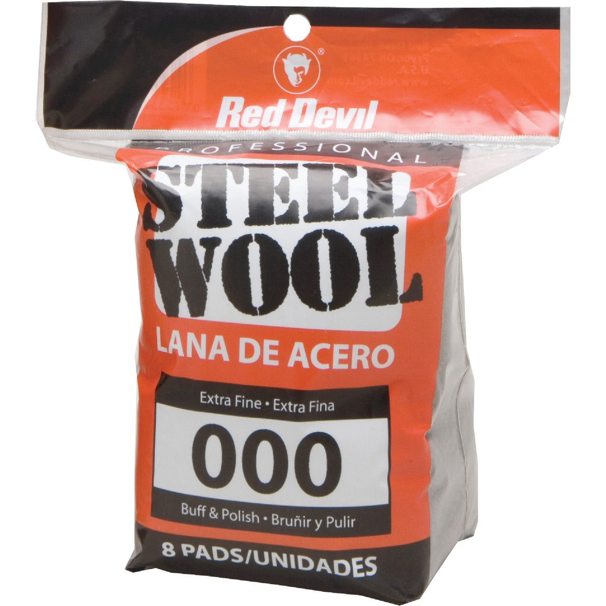 8PK #000 STEEL WOOL - 0321 by Red Devil