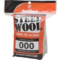 Red Devil 8PK #000 STEEL WOOL 321