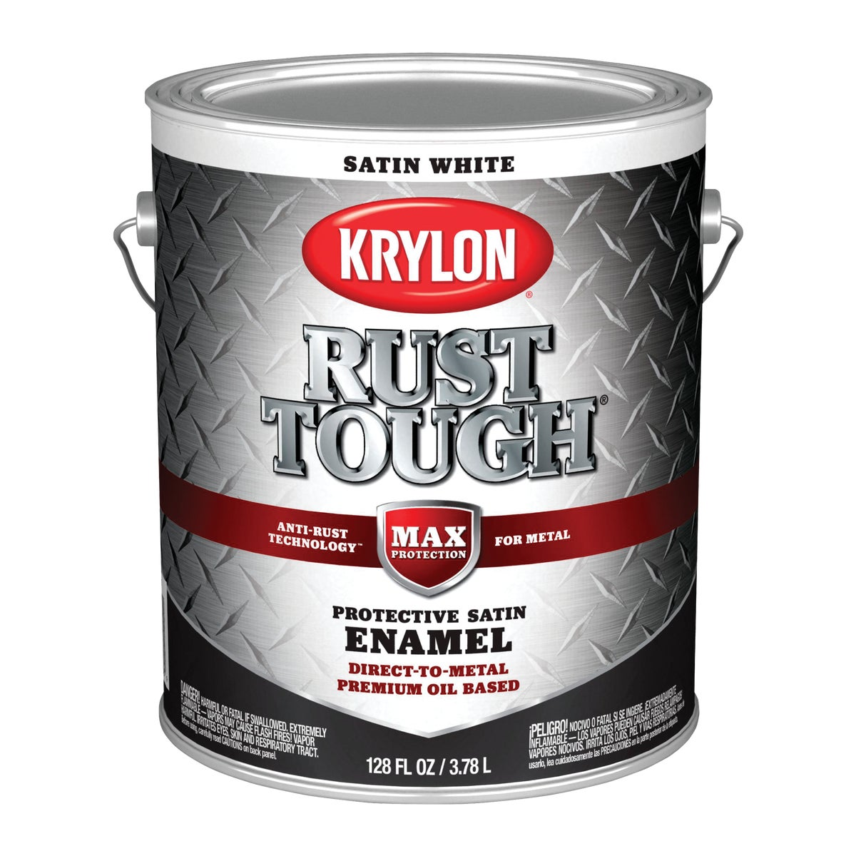 SATIN WHITE RUST ENAMEL - 044.0021820.007 by Valspar Corp