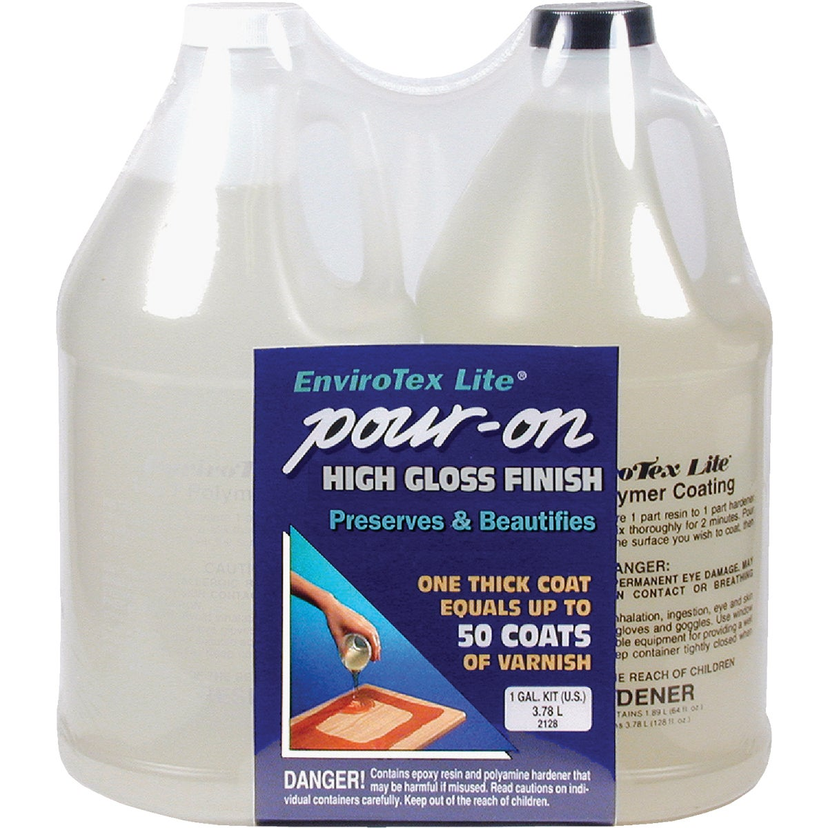 GL CLEAR POUR-ON FINISH - 2128 by Environmental Tech