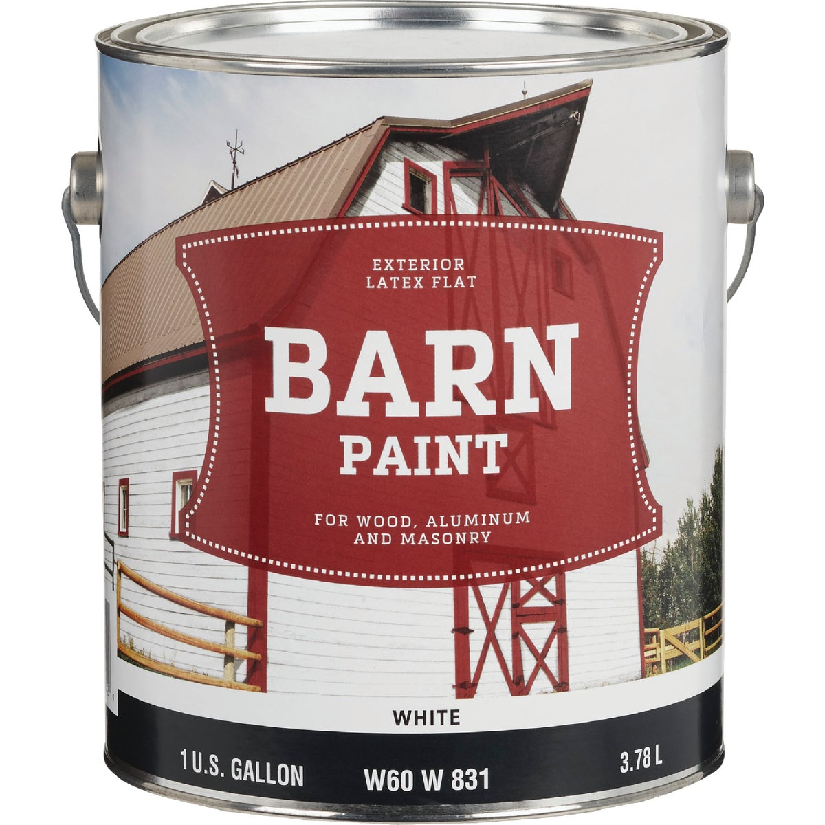FLAT LTX WHT BARN PAINT - W60W00831-16 by Do it Best