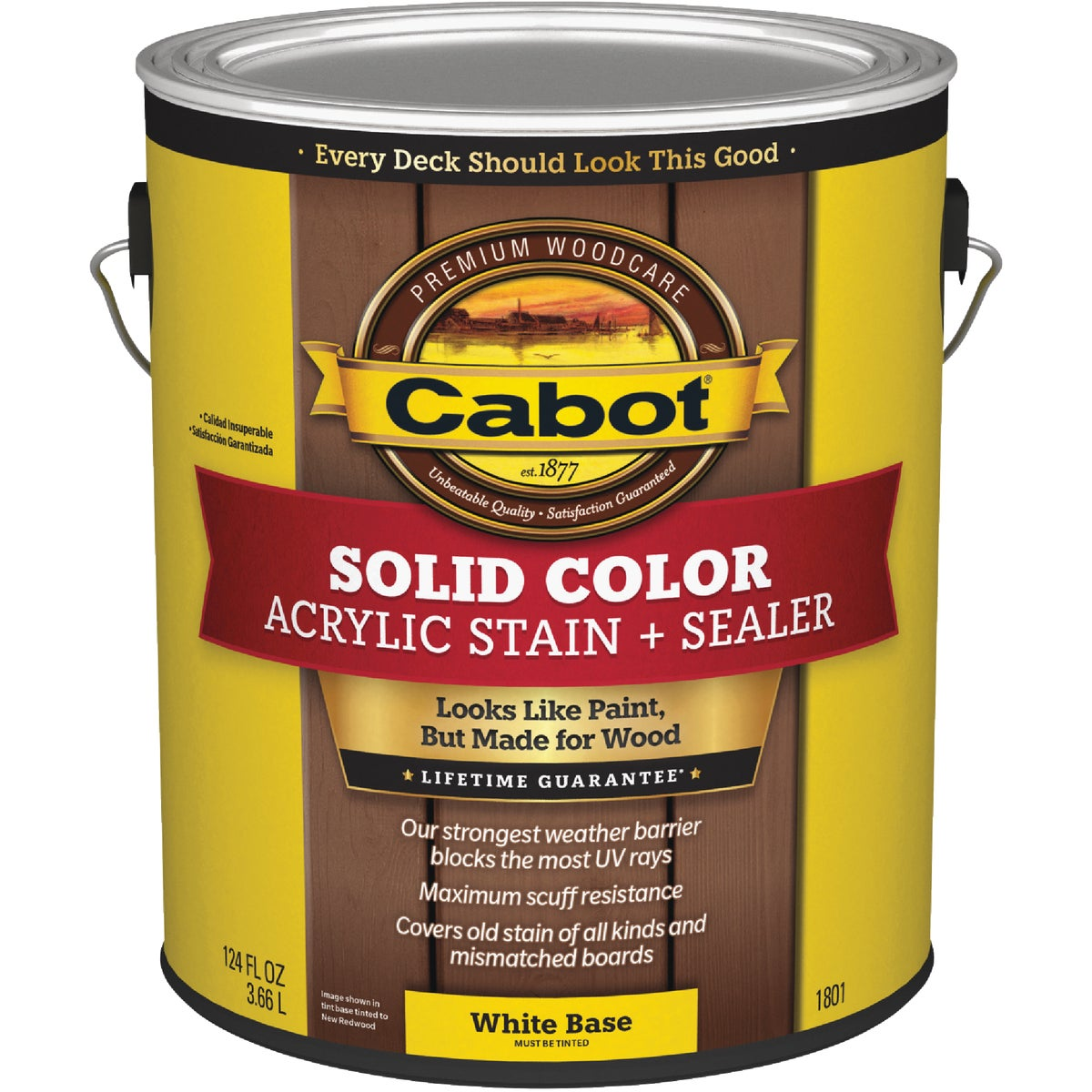 WHT BS SOLID DECK STAIN