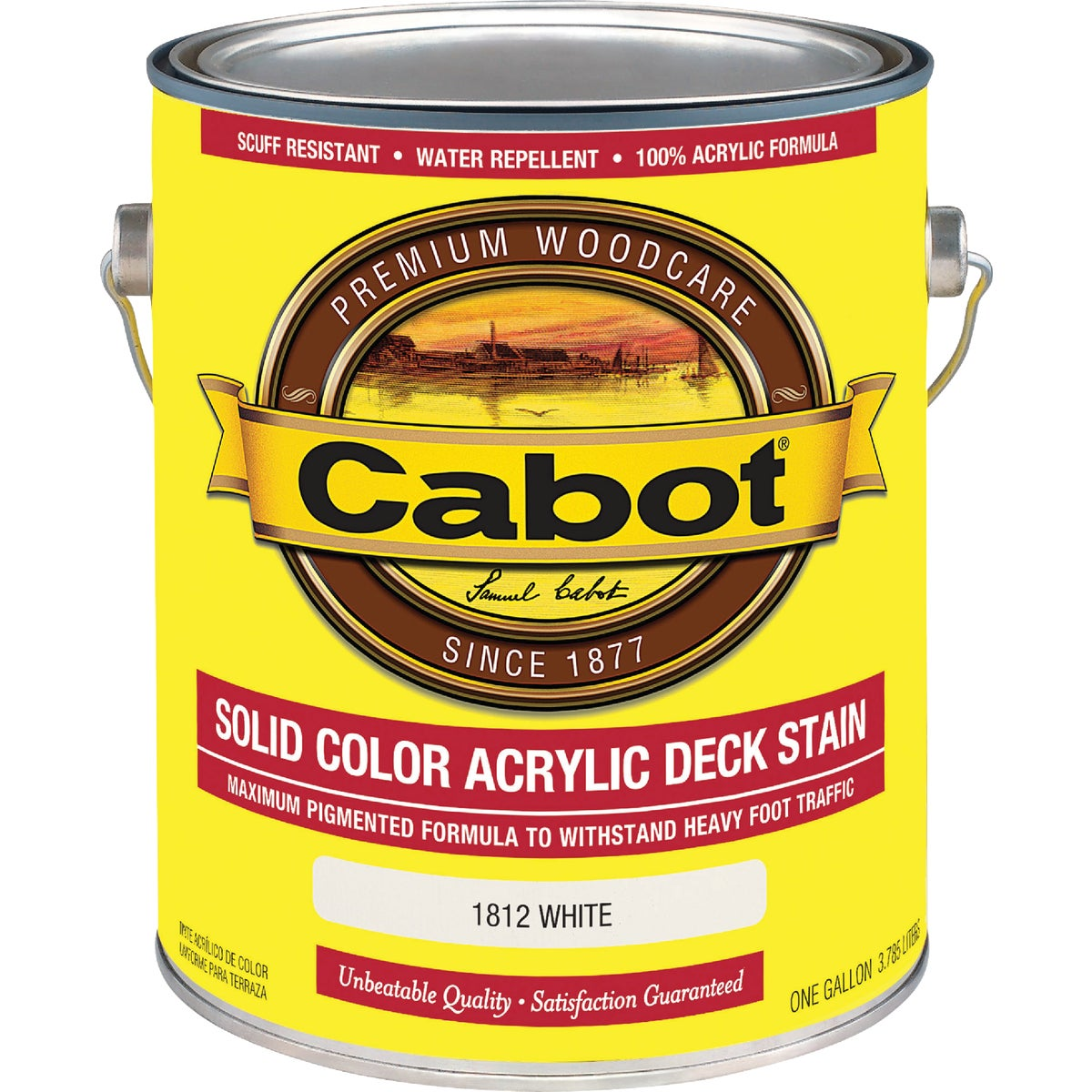 WHITE SOLID DECK STAIN - 140.0001812.007 by Valspar Corp