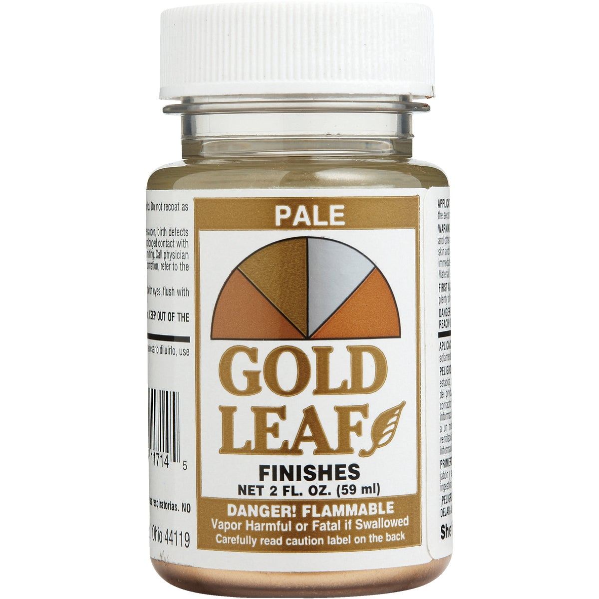 2OZ PALE GOLD FINISH
