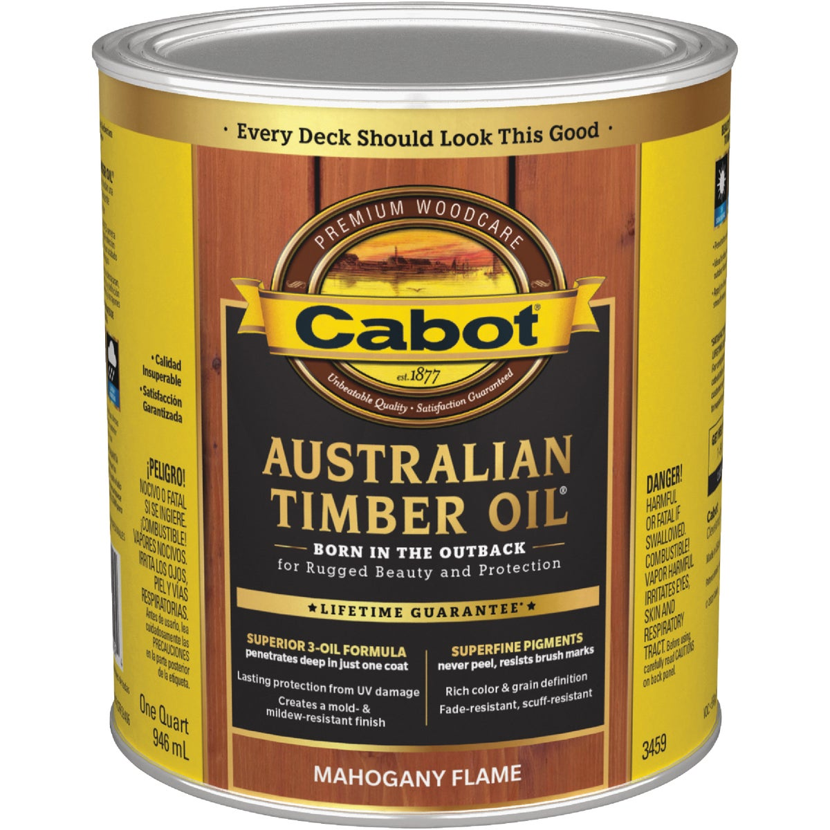 Cabot Stains 3459 Timber Oil Finish, Mahogany