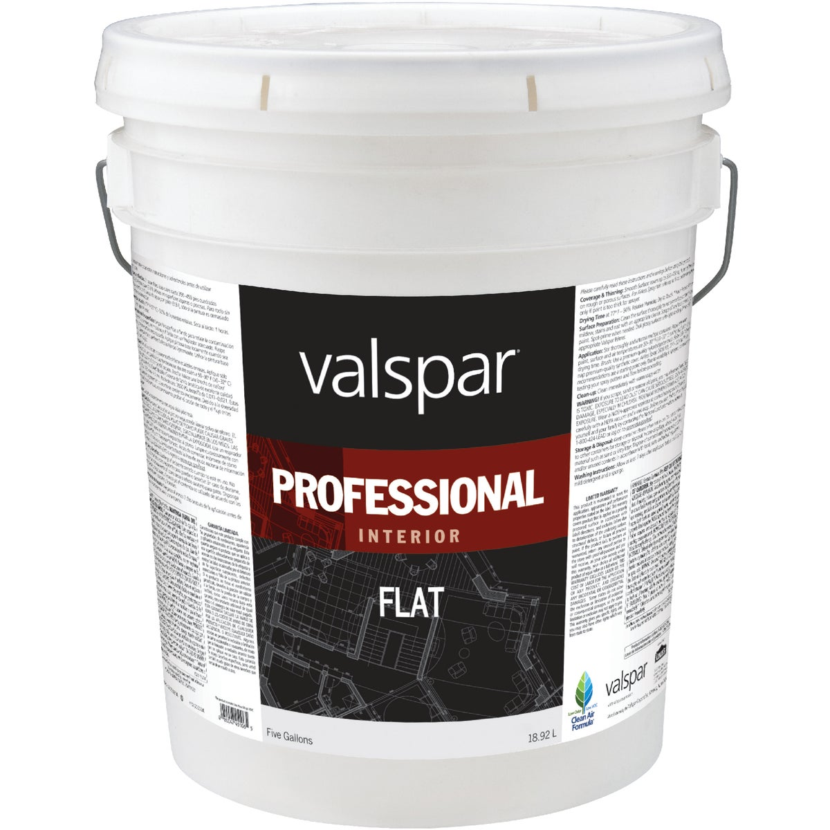 INT FLAT HIGH-HIDE PAINT - 045.0011600.008 by Valspar Corp