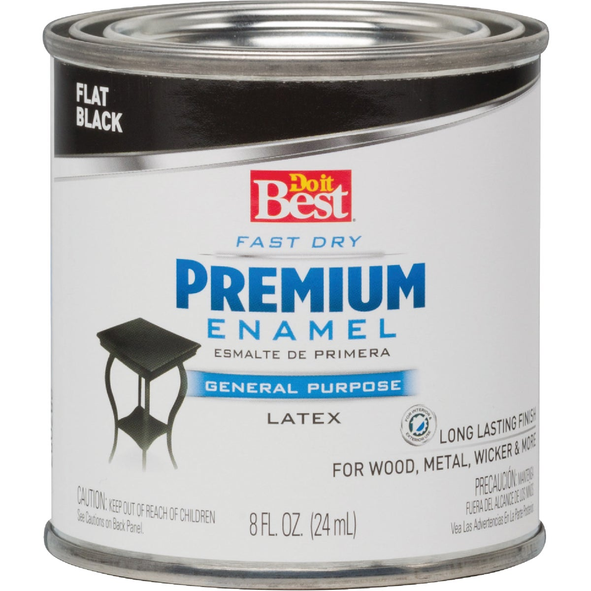 FLAT BLACK LATEX ENAMEL - 203226D by Rustoleum