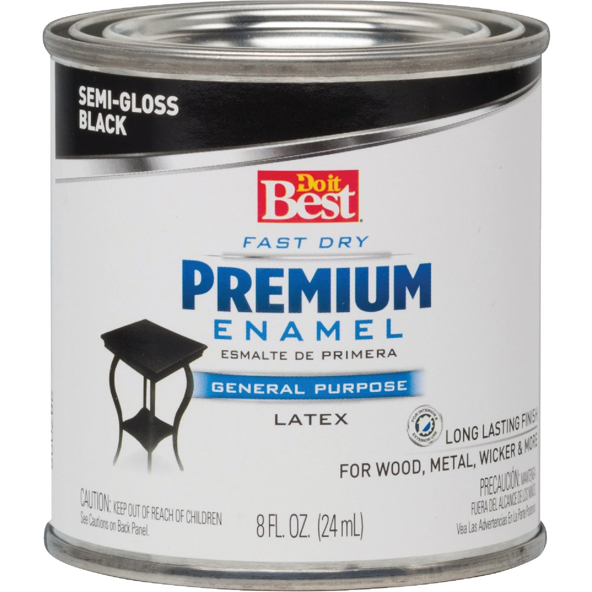 S/G BLACK LATEX ENAMEL - 203341D by Rustoleum
