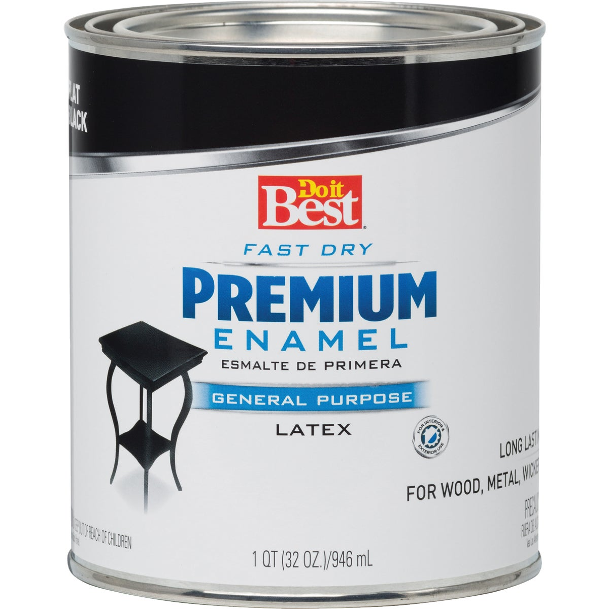 FLAT BLACK LATEX ENAMEL - 2202 by Rustoleum
