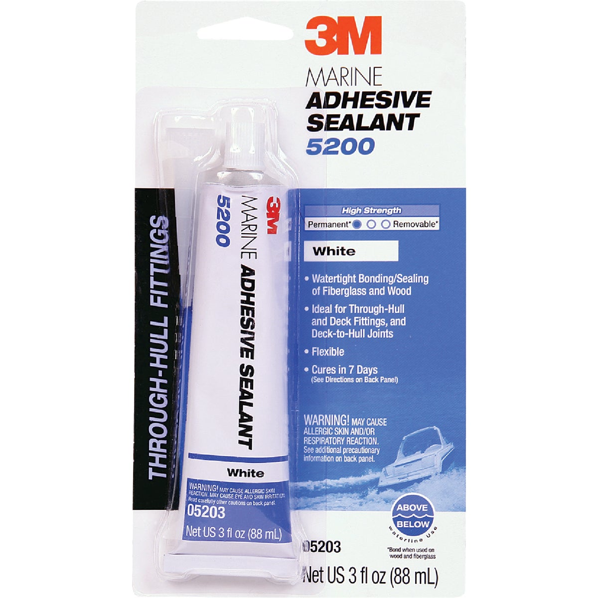 3OZ WHITE MARINE SEALANT - 05203 by 3m Co